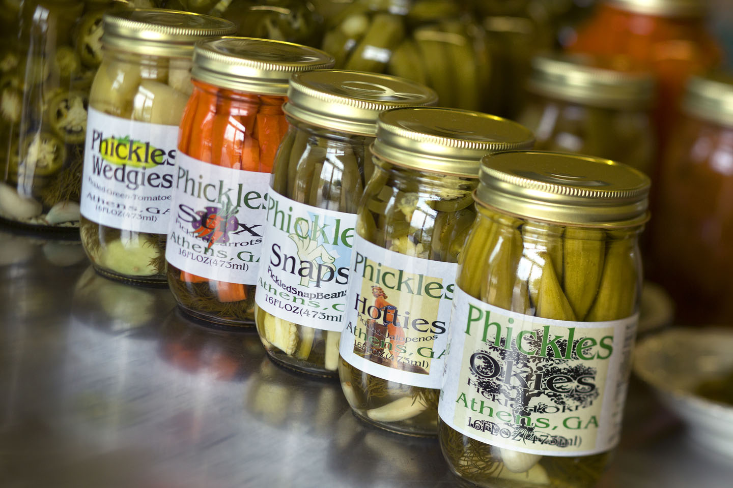 Phickles-Pickles-Pickled-Okra-Jalapenos-Beans-Carrots-Green-Tomatoes ...